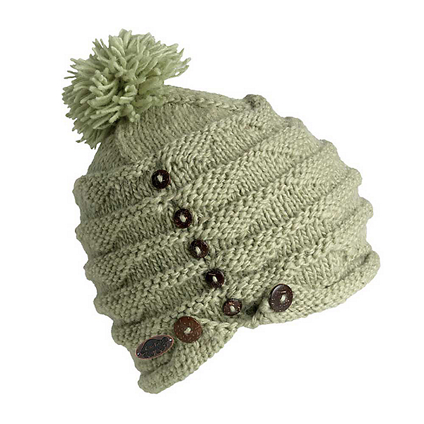Turtle Fur Acorn Knit Pom Hat, Sage, 600