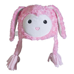 Turtle Fur Fuzzy Bunny Kids Hat, Powder Pink, 256