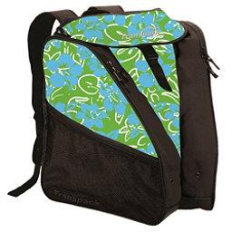 Transpack XTW Ski Boot Bag, Lime-Aqua-White Multi Floral, 256
