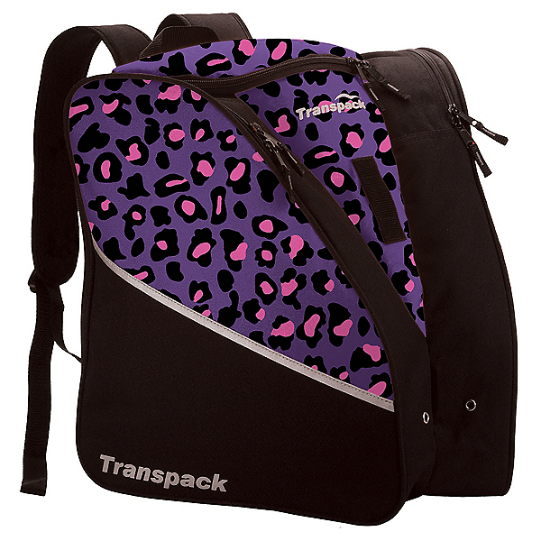 Transpack Edge Junior Ski Boot Bag, Purple-Pink Leopard, 600