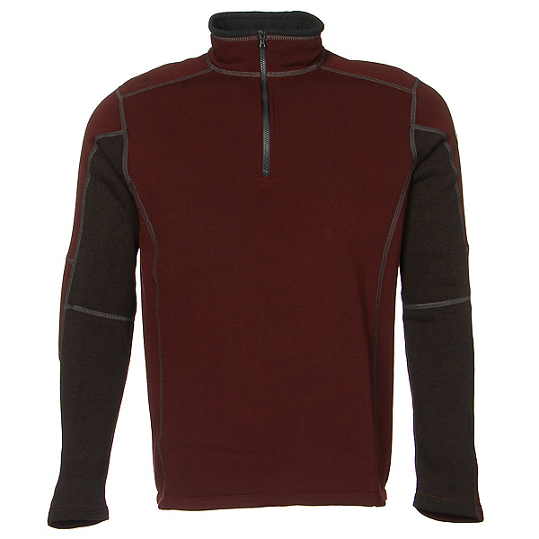 KUHL Revel 1/4 Zip Mens Sweater Previous Year 2020, Brick-Charcoal, 600