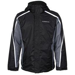 Karbon Mars Mens Insulated Ski Jacket, Black-Smoke-Arctic White, 256