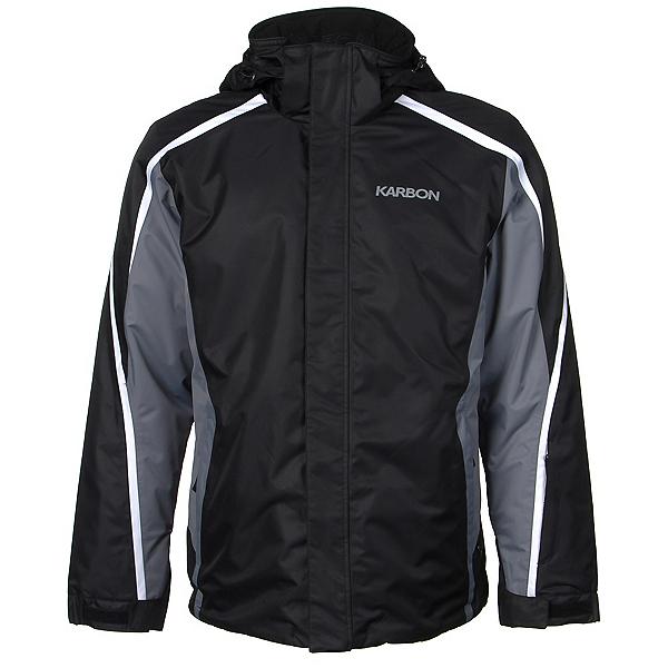 Karbon Mars Mens Insulated Ski Jacket, Black-Smoke-Arctic White, 600