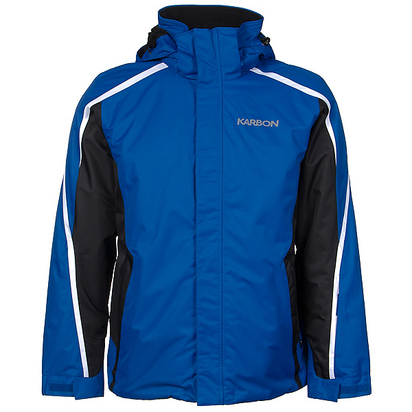 Karbon Mars Mens Insulated Ski Jacket, Royal Blue-Black-Arctic White, 600
