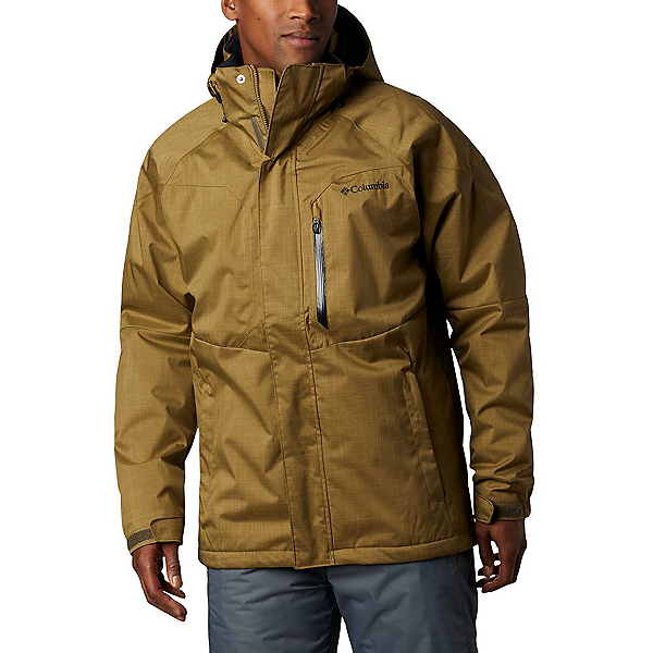Columbia Alpine Action Tall Mens Insulated Ski Jacket 2020, Olive Brown, 600
