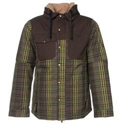 686 Authentic Woodland Mens Insulated Snowboard Jacket, Tobacco Yarn Dye Plaid, 256