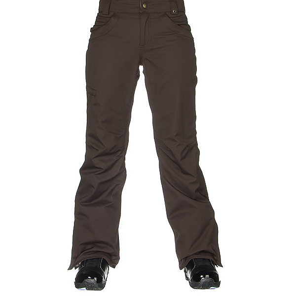 686 Authentic Patron Insulated Womens Snowboard Pants, Coffee Herringbone, 600
