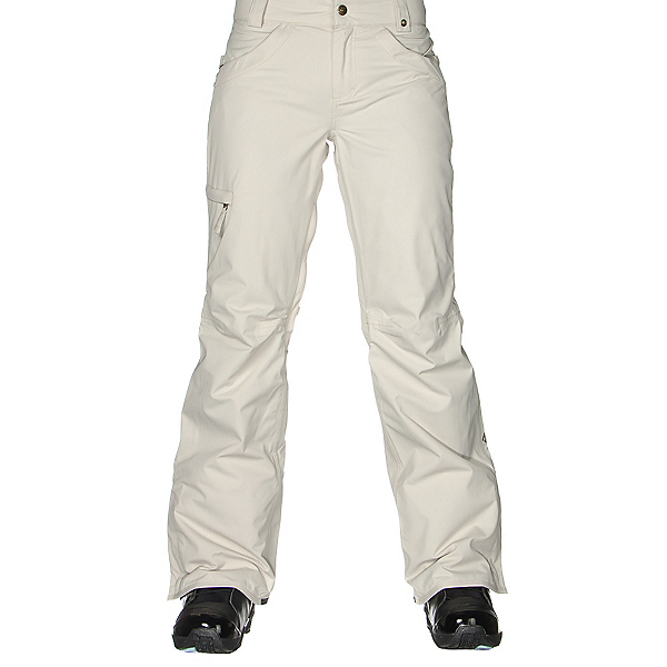 686 Authentic Patron Insulated Womens Snowboard Pants, Ivory Herringbone, 600