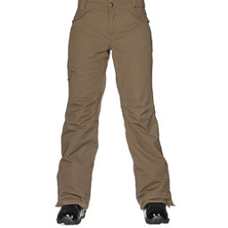686 Authentic Patron Insulated Womens Snowboard Pants, Tobacco Herringbone, 256