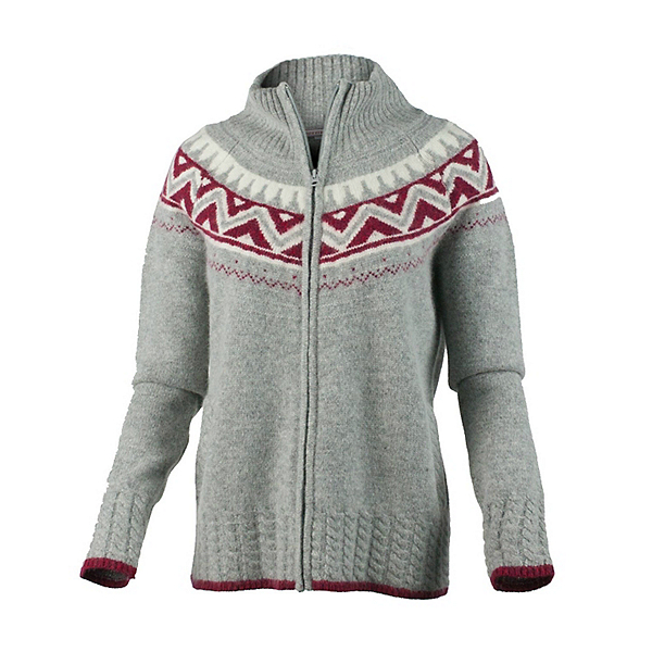 Obermeyer Women's Frances Knit Cardigan, Heather Grey, 600