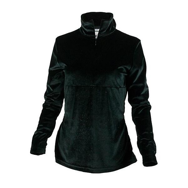 Obermeyer Candace Velvet Zip Womens Mid Layer, Black, 600