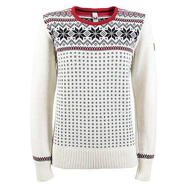 Dale Of Norway Garmisch Womens Sweater, Off White-Navy-Rasberry, 600