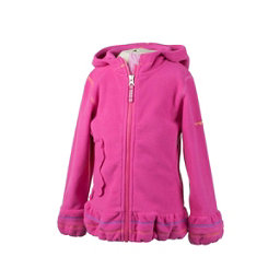 Obermeyer Poppy Fleece Toddler Girls Hoodie, Wild Pink, 256