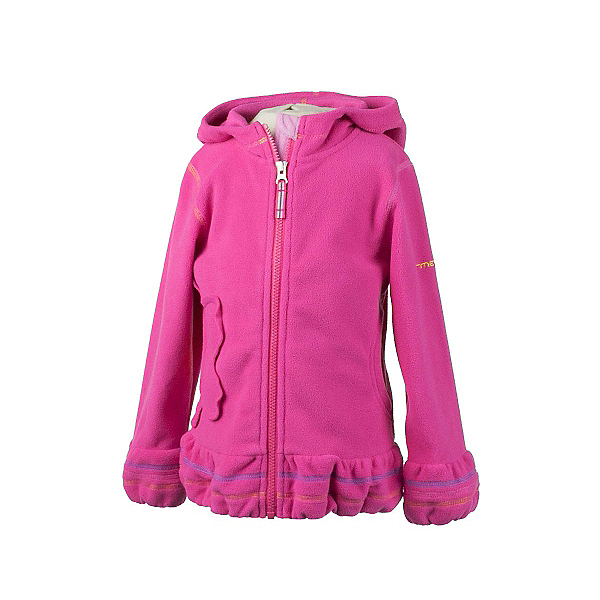 Obermeyer Poppy Fleece Toddler Girls Hoodie, Wild Pink, 600