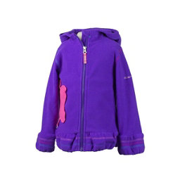 Obermeyer Poppy Fleece Toddler Girls Hoodie, Iris Purple, 256