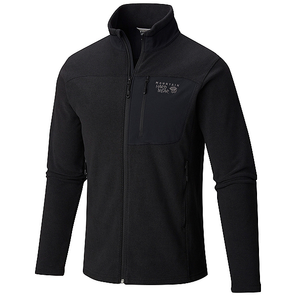 Mountain Hardwear Toasty Twill Mens Jacket, Black-Titanium, 600