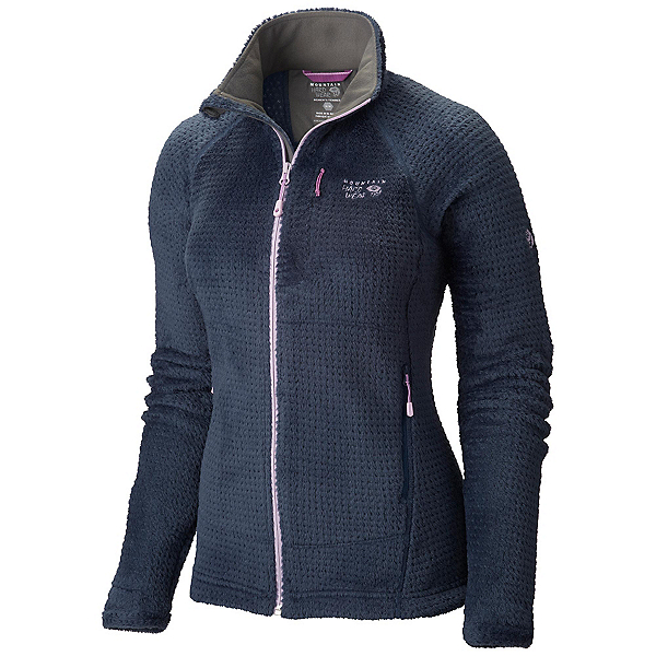 Mountain Hardwear Monkey Woman Grid II Womens Jacket, Zinc-Phantom Purple, 600