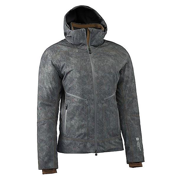 Mountain Force Rider Print Womens Insulated Ski Jacket, Grey Denim-Coffee, 600