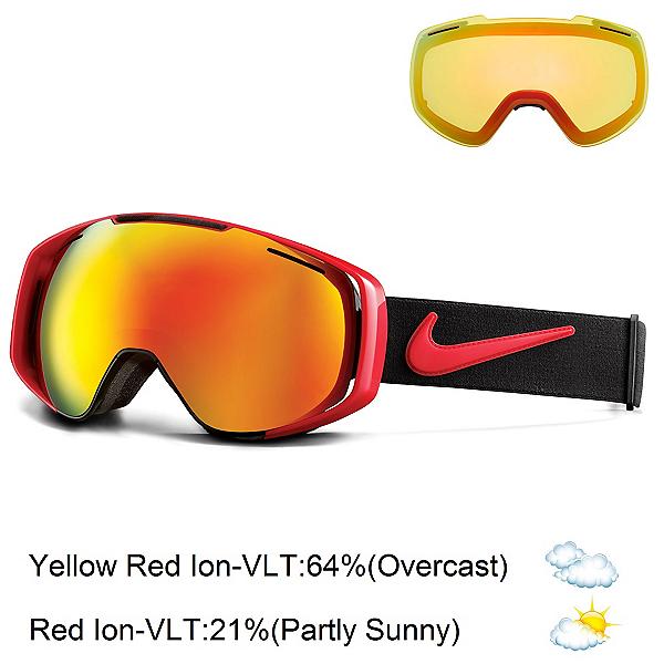 Nike Khyber Goggles, University Red Vlack-Red Ion + Bonus Lens, 600