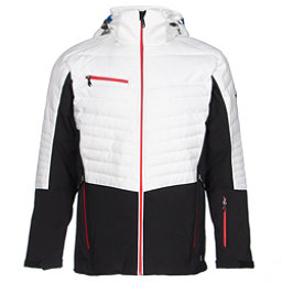 Karbon Thor Mens Insulated Ski Jacket, Black-Arctic White-Red, 256