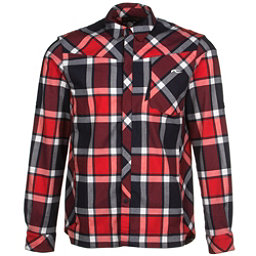 KJUS FRX Mens Flannel Shirt, Atlanta Blue-Scarlet, 256
