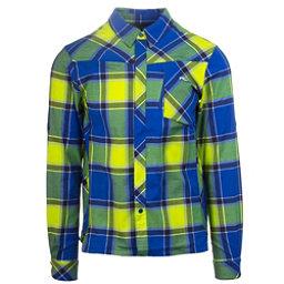 KJUS FRX Mens Flannel Shirt, Alaska Blue-Wasabi, 256