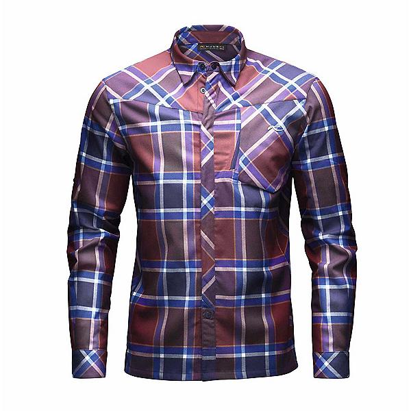 KJUS FRX Mens Flannel Shirt, Rum-Atlanta Blue, 600