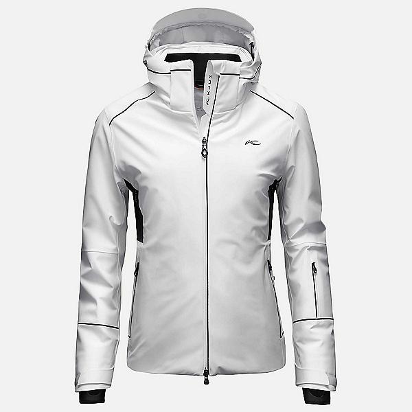 KJUS Formula Womens Insulated Ski Jacket, White-Black, 600