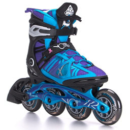 K2 VO2 90 Pro Womens Inline Skates 2017, Black-Blue-Purple, 256