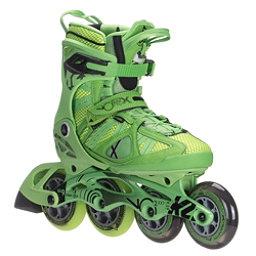 K2 VO2 100 X Pro Inline Skates, Green-Yellow, 256