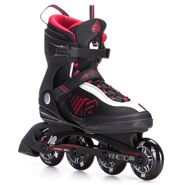 K2 Kinetic 80 Inline Skates 2017, Black-Red-Silver, 600