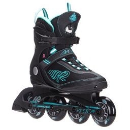 K2 Kinetic 80 Womens Inline Skates 2017, Black-Turquoise, 256