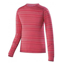 Terramar 2.0 Thermolator Crew Girls Long Underwear Top, Poppy Rick Rack, 256
