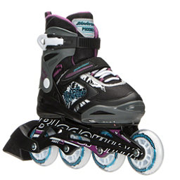 Bladerunner Phoenix Adjustable Girls Inline Skates 2017, Black-Purple, 256