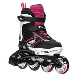 Rollerblade Spitfire XT Adjustable Girls Inline Skates 2017, Black-Pink, 256