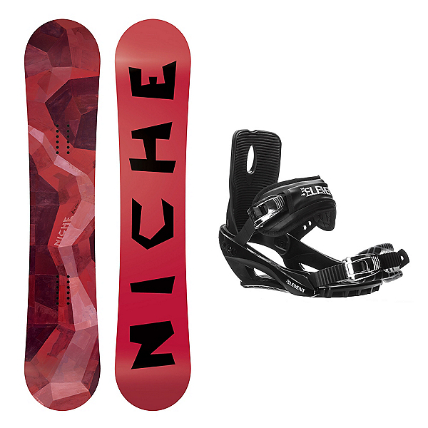 Niche Knew Wide Stealth 3 Snowboard and Binding Package, , 600