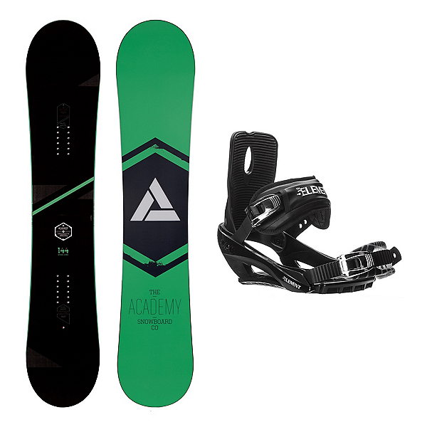 Academy Snowboards Icon Green Stealth 3 Snowboard and Binding Package, , 600