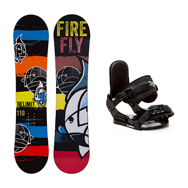Firefly Delimit Stealth Kids Snowboard and Binding Package, , 600