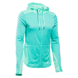 Under Armour Gamut FZ Womens Hoodie, Crystal-Aqua Falls-Aqua Falls, 256