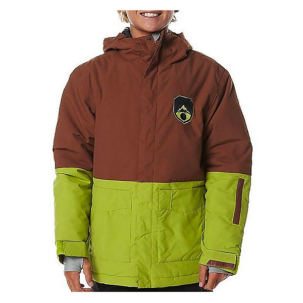 Billabong Twoblock Boys Snowboard Jacket, Bison, 600