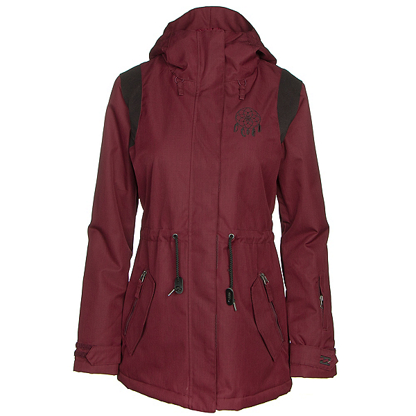 Billabong Anderson Womens Jacket, Black Cherry, 600