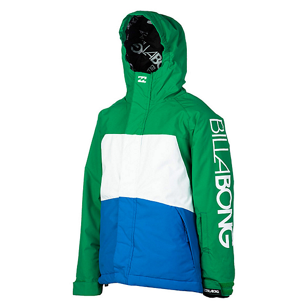 Billabong Strike Boys Snowboard Jacket, Golf Green, 600
