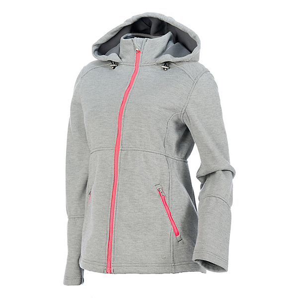 Spyder ARC Novelty Womens Soft Shell Jacket, Image Gray Stripe Fabric, 600