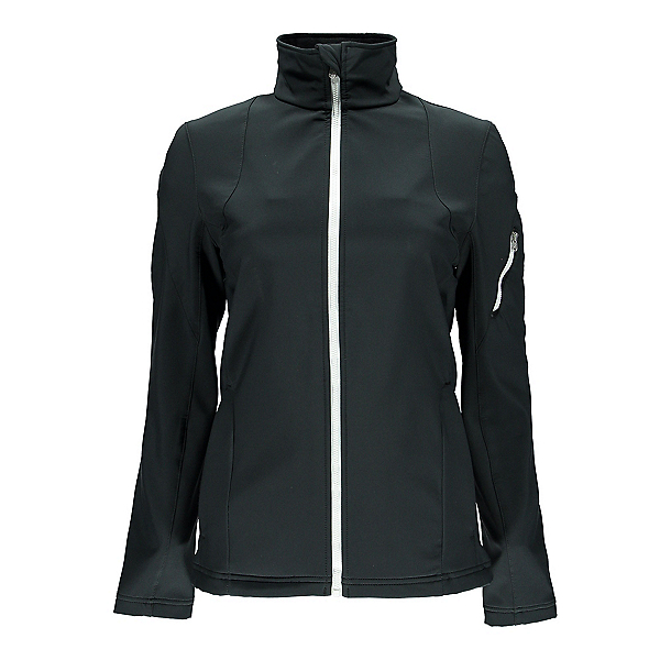 Spyder Fresh Air Womens Soft Shell Jacket, Black-White, 600