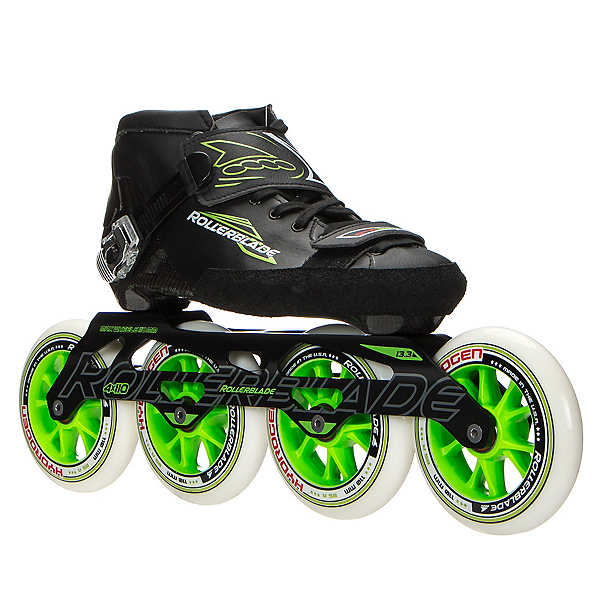 Rollerblade Powerblade 195 Race Skate, Black-Green, 600