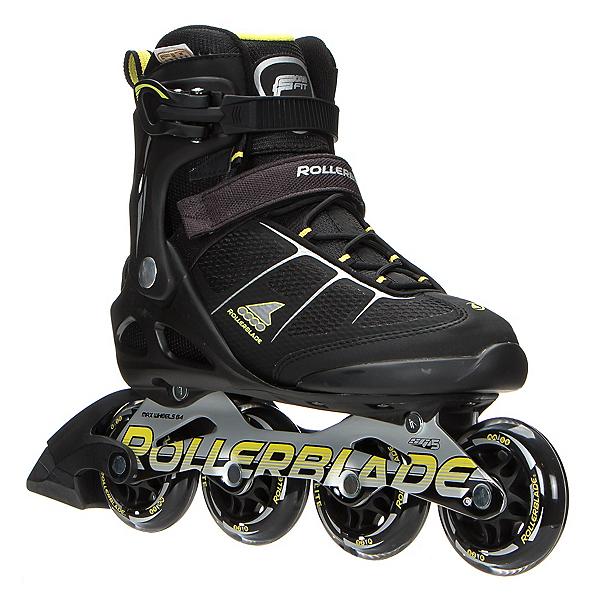 Rollerblade Macroblade 80 ALU Inline Skates, Black-Yellow, 600