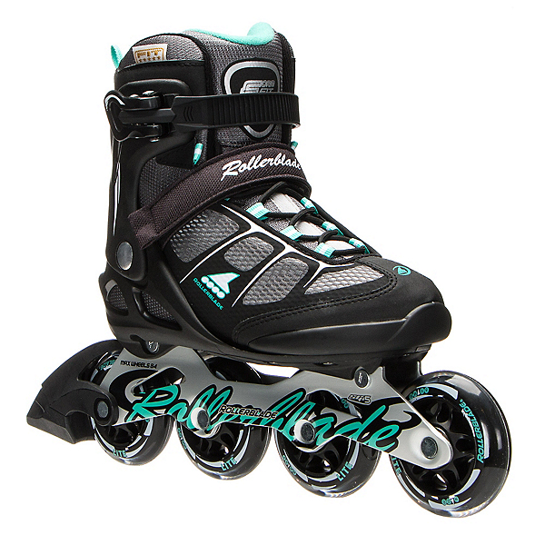 Rollerblade Macroblade 80 ALU Womens Inline Skates, Black-Light Green, 600