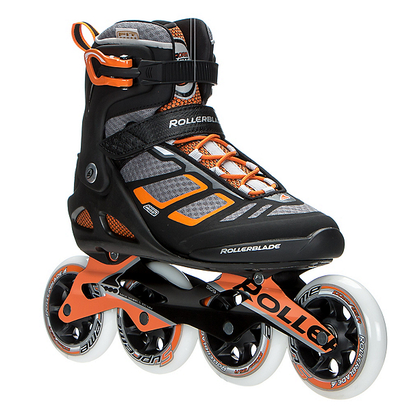 Rollerblade Macroblade 100 Inline Skates, Black-Orange, 600