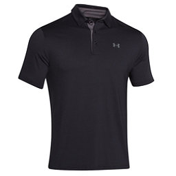 Under Armour Playoff Polo Mens Shirt, Black-Graphite-Graphite, 256