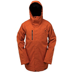 Ride Laurelhurst Mens Insulated Snowboard Jacket, Burnt Orange Herringbone, 256